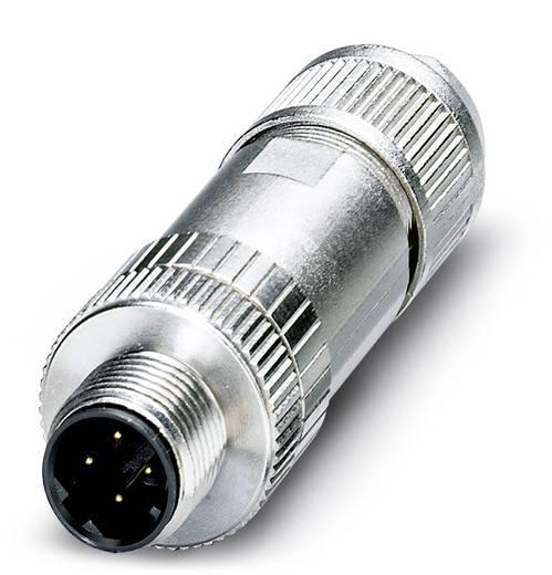 Sensor-/Aktor-Datensteckverbinder M12 Stecker, gerade Polzahl (RJ): 4 Phoenix Contact 1554513 SACC-M12MSD-4Q SH PN 1 St