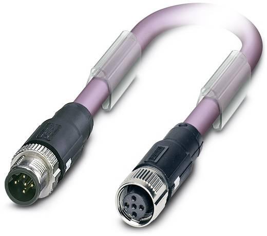 Sensor-/Aktor-Datensteckverbinder, konfektioniert M12 Stecker, gerade, Buchse, gerade 0.30 m Polzahl (RJ): 5 Phoenix Con