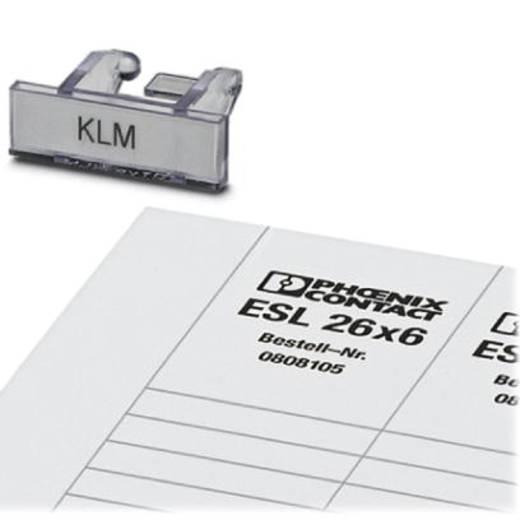 KLM + ESL 26X6 - Klemmenleisten-Kennzeichnungsträger KLM + ESL 26X6 Phoenix Contact Inhalt: 100 St.