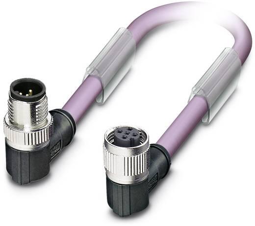 Sensor-/Aktor-Datensteckverbinder, konfektioniert M12 Stecker, gewinkelt, Buchse, gewinkelt 1 m Polzahl: 2 Phoenix Conta