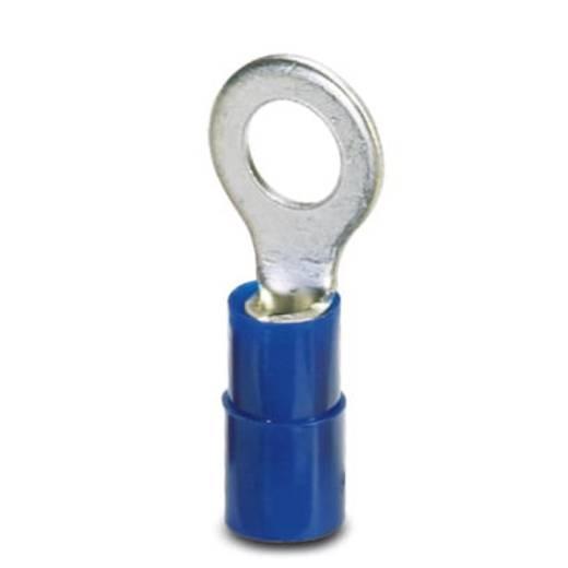 Ringkabelschuh Querschnitt (max.)=2.5 mm² Loch-Ø=3.2 mm Teilisoliert Blau Phoenix Contact 3240021 100 St.