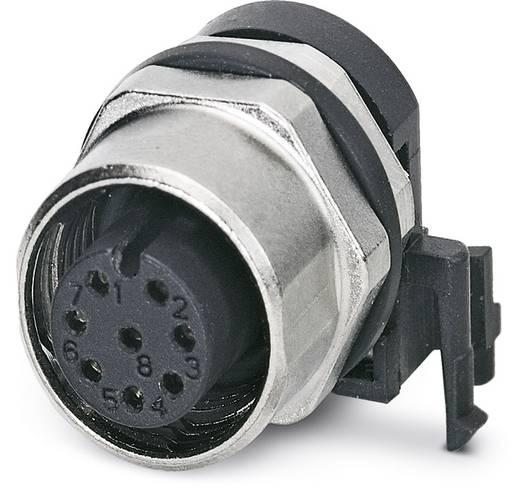 Sensor-/Aktor-Einbausteckverbinder M12 Buchse, Einbau Polzahl (RJ): 8 Phoenix Contact 1437025 SACC-DSIV-FS-8CON-L90 SH