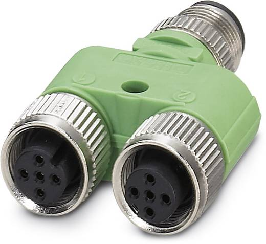 Sensor-/Aktor-Verteiler und Adapter M12 Adapter, Y-Form Polzahl: 5 Phoenix Contact 1683468 SAC-5P-M12Y/2XM12FS VP 5 St.