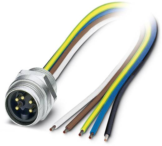 "Sensor-/Aktor-Einbausteckverbinder 7/8"" Stecker, Einbau 0.50 m Polzahl (RJ): 5 Phoenix Contact 1521452 SACC-E-MINMS-5CON"