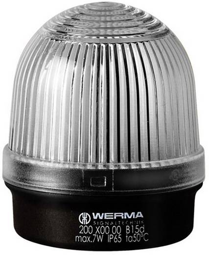 Signalleuchte Werma Signaltechnik 200.400.00 Weiß Dauerlicht 12 V/AC, 12 V/DC, 24 V/AC, 24 V/DC, 48 V/AC, 48 V/DC, 110 V/AC, 230 V/AC