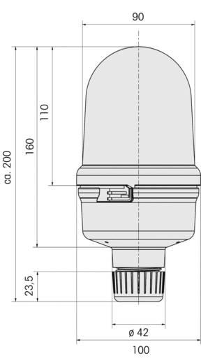 Rundumleuchte Werma Signaltechnik 885.100.75 Rot Rundumlicht 24 V/AC, 24 V/DC
