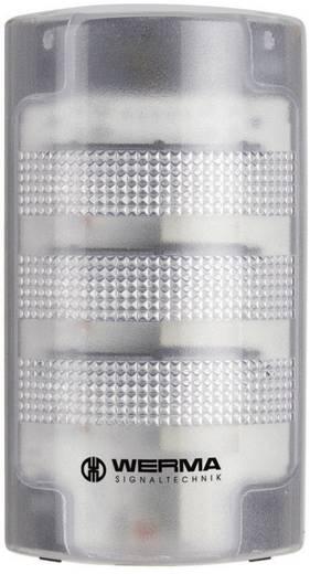 Signalsäule LED Werma Signaltechnik 691.200.55 Weiß Dauerlicht, Blinklicht 24 V/DC 85 dB