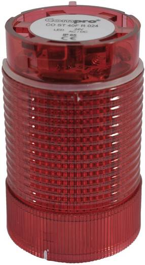 Signalsäulenelement LED ComPro CO ST 40 Rot Dauerlicht, Blitzlicht, Rundumlicht 24 V/DC, 24 V/AC 75 dB