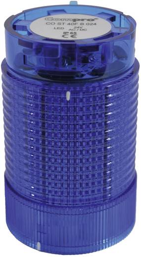 Signalsäulenelement LED ComPro CO ST 40 Blau Dauerlicht, Blitzlicht, Rundumlicht 24 V/DC, 24 V/AC 75 dB