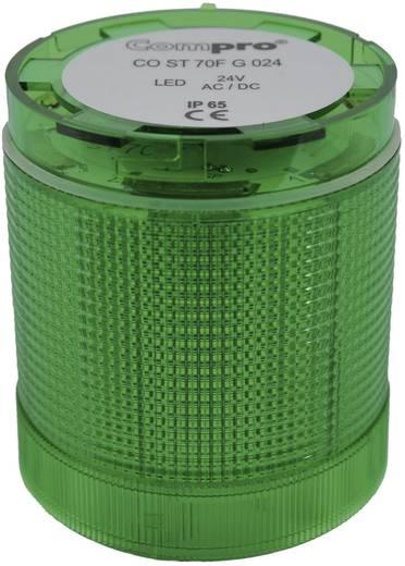 Signalsäulenelement LED ComPro CO ST 70 Grün Dauerlicht, Blitzlicht, Rundumlicht 24 V/DC, 24 V/AC 75 dB
