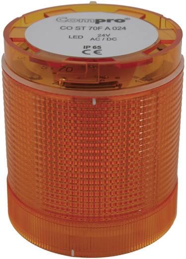 Signalsäulenelement LED ComPro CO ST 70 Gelb Dauerlicht, Blitzlicht, Rundumlicht 24 V/DC, 24 V/AC 75 dB