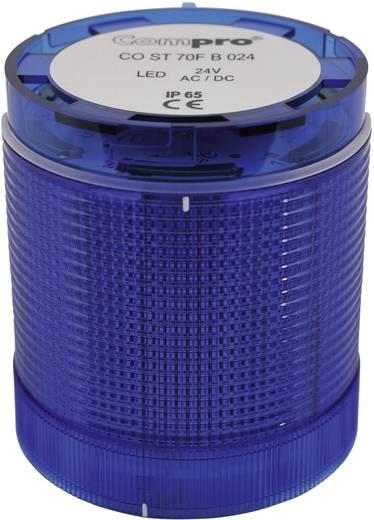 Signalsäulenelement LED ComPro CO ST 70 Blau Dauerlicht, Blitzlicht, Rundumlicht 24 V/DC, 24 V/AC 75 dB