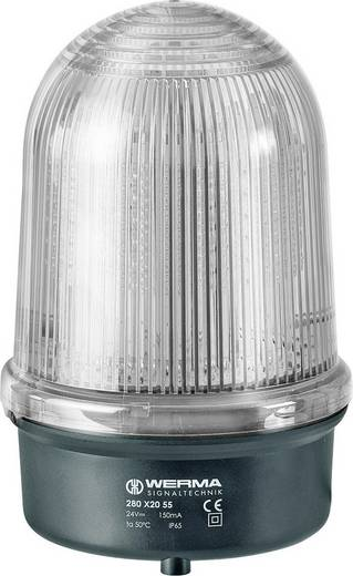Signalleuchte Werma Signaltechnik 280.460.55 Weiß 24 V/DC