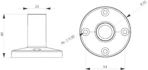 Signalgeber Standfuß ComPro CO ST Passend für Serie (Signaltechnik) Signalelement Serie CO ST40, Signalelement Serie CO ST70