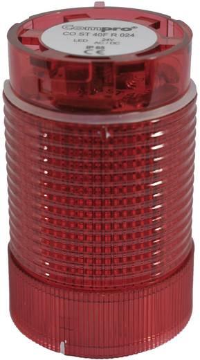 Signalsäulenelement LED ComPro CO ST 40 Rot Dauerlicht, Blinklicht 24 V/DC, 24 V/AC 75 dB