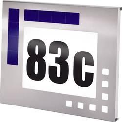 Domovní číslo se solárním LED osvětlením Esotec Design, 102037, nerez
