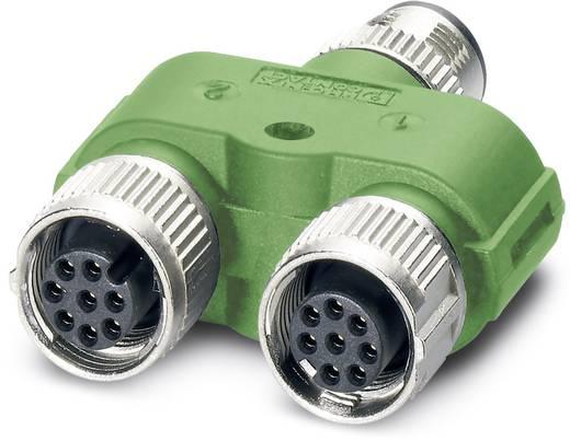 Sensor-/Aktor-Verteiler und Adapter M12 Adapter, Y-Form Polzahl (RJ): 8 Phoenix Contact 1454972 SAC-8PY-M/2XF VP 5 St.