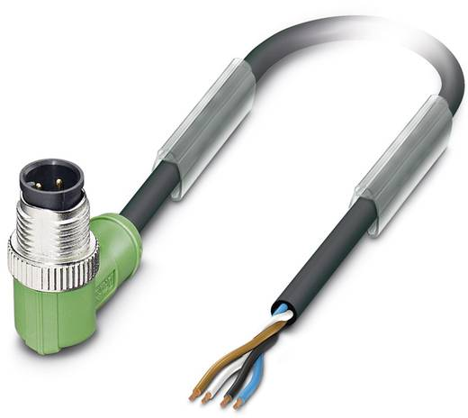 Sensor-/Aktor-Steckverbinder, konfektioniert M12 Stecker, gewinkelt 5 m Polzahl (RJ): 4 Phoenix Contact 1668182 SAC-4P-M