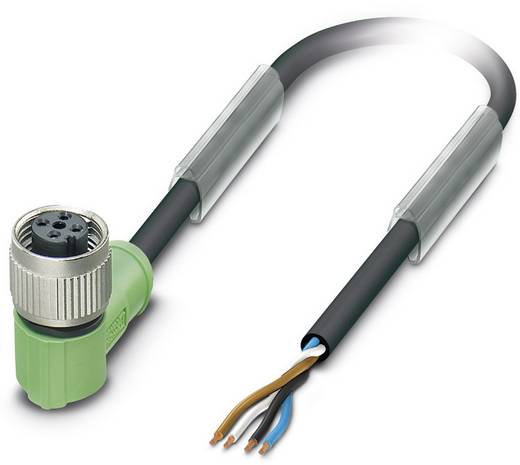 Sensor-/Aktor-Steckverbinder, konfektioniert M12 Buchse, gewinkelt 10 m Polzahl (RJ): 4 Phoenix Contact 1536434 SAC-4P-1