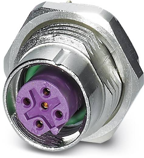 Sensor-/Aktor-Einbausteckverbinder M12 Buchse, Einbau Polzahl (RJ): 5 Phoenix Contact 1456488 SACC-DSI-FSB-5CON-L180/SH