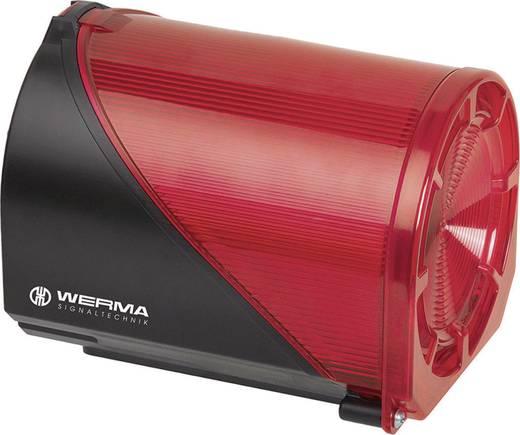 Kombi-Signalgeber Werma Signaltechnik 444.110.75 Rot 24 V/DC 114 dB