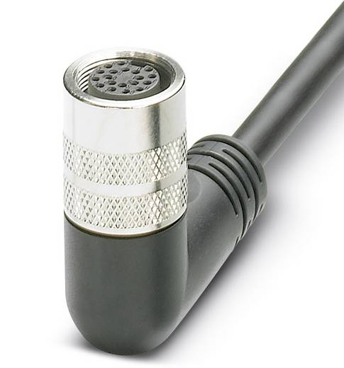 Sensor-/Aktor-Anschlussleitung M16 Buchse, gewinkelt 15 m Polzahl: 14 Phoenix Contact 1527472 SAC-14P-15,0-PUR/M16FR 1 S