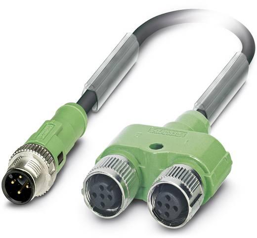 Sensor-/Aktor-Steckverbinder, konfektioniert M12 Adapter, Y-Form 0.60 m Polzahl: 4 Phoenix Contact 1436217 SAC-4PY-MS- 0