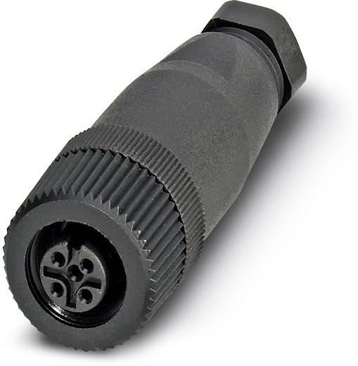 Sensor-/Aktor-Steckverbinder, unkonfektioniert M12 Buchse, gerade Polzahl (RJ): 4 Phoenix Contact 1681114 SACC-M12FS-4C