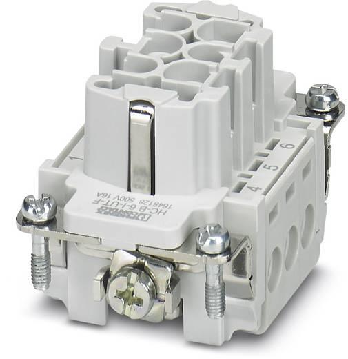 Buchseneinsatz HC-B 1648128 Phoenix Contact 6 + PE Schrauben 1 St.
