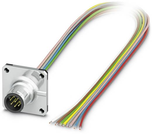 Sensor-/Aktor-Einbausteckverbinder M12 Stecker, Einbau 0.50 m Polzahl (RJ): 8 Phoenix Contact 1441684 SACC-SQ-M12MS-8CON