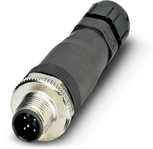 Sensor-/Aktor-Steckverbinder, unkonfektioniert M12 Stecker, gerade Polzahl: 5 Phoenix Contact 1456466 SACC-M12MS-5CON-P