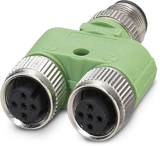 Sensor-/Aktor-Verteiler und Adapter M12 Adapter, Y-Form Polzahl: 4 Phoenix Contact 1683413 SAC-3P-M12Y/2XM12FS B PE 5 S