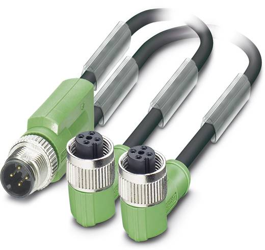 Sensor-/Aktor-Steckverbinder, konfektioniert M12 Adapter, Y-Form 3 m Polzahl (RJ): 3 Phoenix Contact 1669026 SAC-3P-M12Y