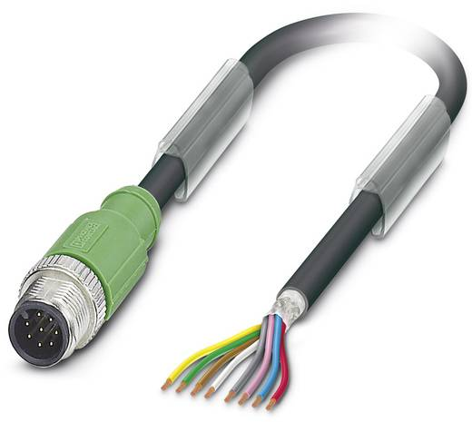 Sensor-/Aktor-Steckverbinder, konfektioniert M12 Stecker, gerade 1.50 m Polzahl: 8 Phoenix Contact 1522778 SAC-8P-M12MS/