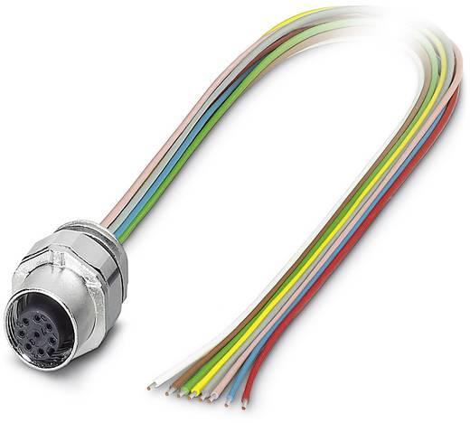 Sensor-/Aktor-Einbausteckverbinder M12 Buchse, Einbau 0.50 m Polzahl: 8 Phoenix Contact 1523489 SACC-EC-FS-8CON-M16/0,5
