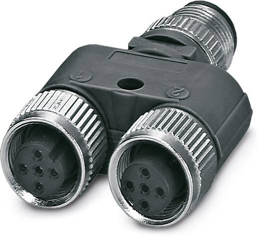 Sensor-/Aktor-Verteiler und Adapter M12 Adapter, Y-Form Polzahl: 4 Phoenix Contact 1527618 SAC-3P-M12Y/2XM12FS B PE S21