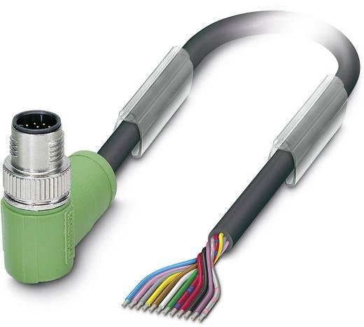 Sensor-/Aktor-Steckverbinder, konfektioniert M12 Stecker, gewinkelt 5 m Polzahl: 12 Phoenix Contact 1554830 SAC-12P-MR/