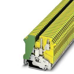 Bloc de jonction pour conducteur de protection à 1 niveau avec raccordement double asymétrique Phoenix Contact UK 3-TWIN