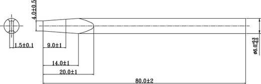 Lötspitze Meißelform TOOLCRAFT Spitzen-Größe 6 mm Spitzen-Länge 75 mm Inhalt 1 St.