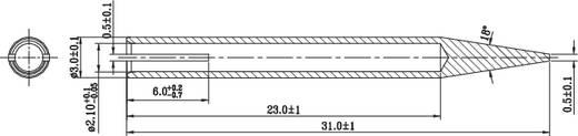 Lötspitze Bleistiftform TOOLCRAFT MST-01 Spitzen-Größe 3 mm Spitzen-Länge 31 mm Inhalt 1 St.