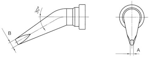 Lötspitze Meißelform, gebogen Weller Professional LT-HX Spitzen-Größe 0.8 mm Inhalt 1 St.
