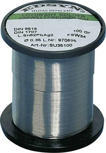 Lötzinn, bleihaltig Spule Edsyn SU 35100 Sn62Pb36Ag2 100 g 0.35 mm