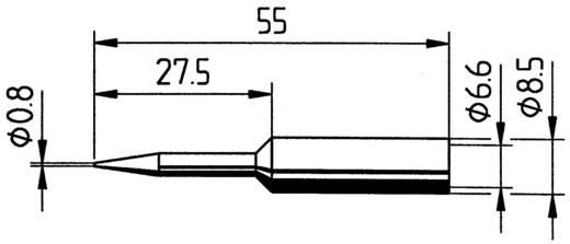Lötspitze Bleistiftform, ERSADUR Ersa 832 SD LF Spitzen-Größe 0.8 mm Inhalt 1 St.
