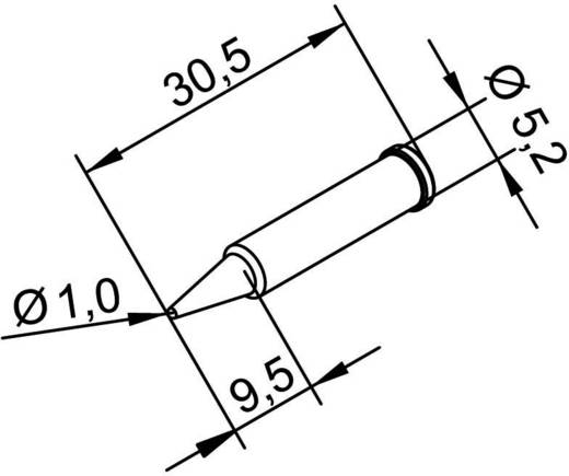 Lötspitze Bleistiftform, ERSADUR Ersa 102 PD LF 10 Spitzen-Größe 1 mm Inhalt 1 St.
