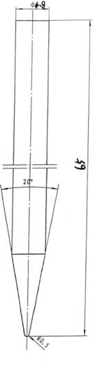 Lötspitze Bleistiftform TOOLCRAFT Inhalt 1 St.