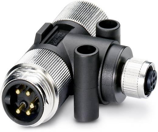 """Sensor-/Aktor-Verteiler und Adapter 7/8"""" Adapter, T-Form Polzahl: 5 Phoenix Contact 1401028 SAC-5P-M12T/2XMIN DN 1 St."""