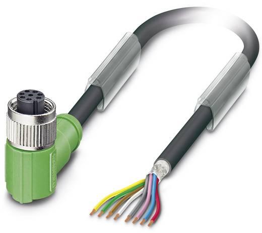 Sensor-/Aktor-Steckverbinder, konfektioniert M12 Buchse, gewinkelt 5 m Polzahl: 8 Phoenix Contact 1522930 SAC-8P- 5,0-PU