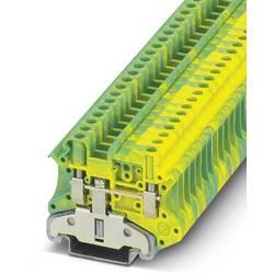 Řadová svorka průchodky Phoenix Contact UT 4-MTD-PE/S 3046207, 50 ks, zelenožlutá