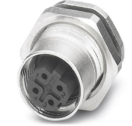 Sensor-/Aktor-Einbausteckverbinder M12 Buchse, Einbau Polzahl (RJ): 4 Phoenix Contact 1551503 SACC-DSI-FSD-4CON-L180 SC