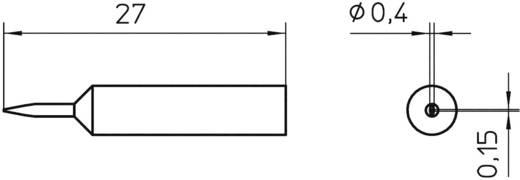 Lötspitze Meißelform Weller Professional XNT 1SC Spitzen-Größe 0.4 mm Spitzen-Länge 27 mm Inhalt 1 St.